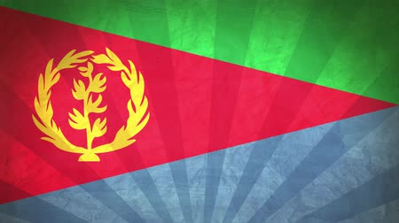 nacionalidade : Flag Of Eritrea. Paper Texture, With Seamlessly Spinning Printed Like Sunrays. High-Quality, Detailed Animation. 4K, 60fps