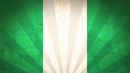Flag Of Nigeria. Paper Texture, With Seamlessly Spinning Printed Like Sunrays. High-Quality, Detailed Animation. 4K, 60fps Vidéos Libres De Droits