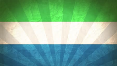 národnost : Flag Of Sierra Leone. Paper Texture, With Seamlessly Spinning Printed Like Sunrays. High-Quality, Detailed Animation. 4K, 60fps