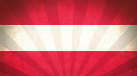 nationality : Flag Of Austria. Paper Texture, With Seamlessly Spinning Printed Like Sunrays. High-Quality, Detailed Animation. 4K, 60fps Stock Footage
