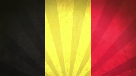 národnost : Flag Of Belgium. Paper Texture, With Seamlessly Spinning Printed Like Sunrays. High-Quality, Detailed Animation. 4K, 60fps