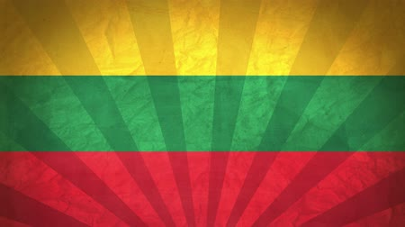 flag of lithuania : Flag Of Lithuania. Paper Texture, With Seamlessly Spinning Printed Like Sunrays. High-Quality, Detailed Animation. 4K, 60fps