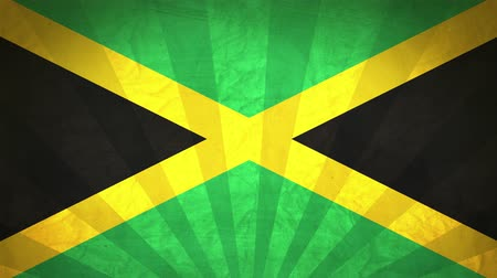 jamaique : Flag Of Jamaica. Paper Texture, With Seamlessly Spinning Printed Like Sunrays. High-Quality, Detailed Animation. 4K, 60fps