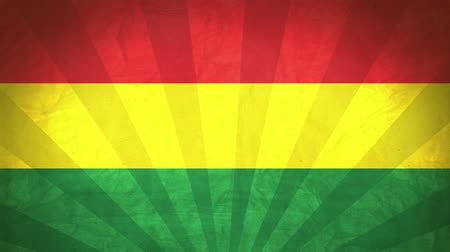 národnost : Flag Of Bolivia. Paper Texture, With Seamlessly Spinning Printed Like Sunrays. High-Quality, Detailed Animation. 4K, 60fps