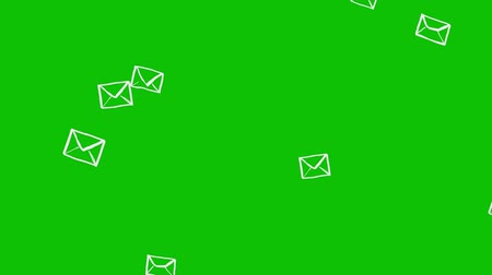 переписка : Falling Animated Letters On Green Background. Ideal For Your Email, Post And Communication Related Projects. High Quality Seamless Animation. 4K, 60fps