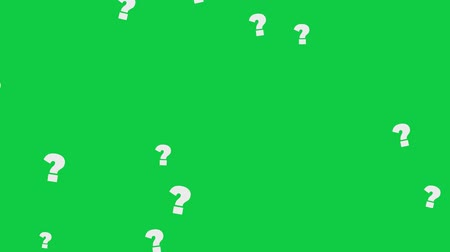 el yazması : Question Marks On Green Screen. High Quality Animation. Seamless loop, 4K, 60fps Stok Video