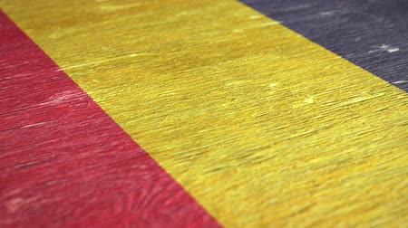 чад : Flag Of Chad. Close-Up On Wood, Shallow Depth Of Field, Seamless Loop. High-Quality Animation. Ideal for Your Country  Travel  Political Related Projects. 1080p, 60fps.