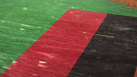 zambia : Flag Of Zambia. Close-Up On Wood, Shallow Depth Of Field, Seamless Loop. High-Quality Animation. Ideal for Your Country  Travel  Political Related Projects. 1080p, 60fps.