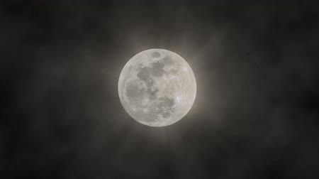 mensal : White Shining Moon Background. Ideal For Your Astrology High-Quality Animation, 4K, 60fps.