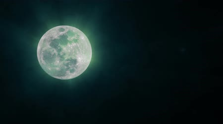 astroloji : Blue Shining Moon Background, Seamless Loop. Ideal For Your Astrology High-Quality Animation, 4K, 60fps.