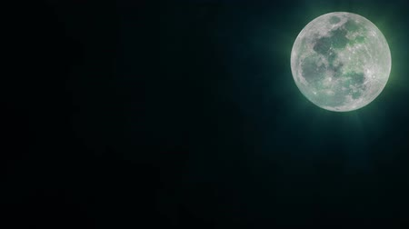 hátborzongató : Blue Shining Moon Background, Seamless Loop. Ideal For Your Astrology High-Quality Animation, 4K, 60fps.