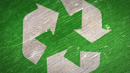 ecológico : Green Recycle Sign. Ideal for Your Recycling  Ecology Projects. High Quality Seamless Animation. 4K, 60fps