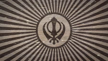 symbolismus : Khanda - Sikh Symbol On Wodden Texture. Ideal For Your Sikh  Religion Related Projects. High Quality Animation. 4K, 60fps Dostupné videozáznamy