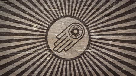 symbolismus : Hand With Wheel - Jain Symbol On A Wodden Texture. Ideal for Your Jainism  Religion Related Projects. High Quality Animation. 4K, 60fps Dostupné videozáznamy