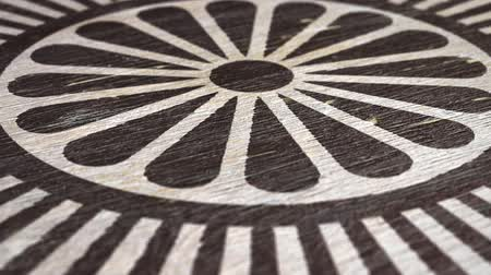 symbolismus : Dharmachakra - Buddhist Symbol On Wodden Texture. Ideal For Your Buddhism  Religion Related Projects. High Quality Seamless Animation. 1080p, 60fps