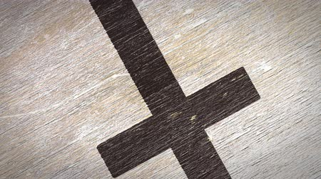 symbolismus : Cross - Christian Symbol On A Wodden Texture. Ideal for Your Jesus  Christianity  Religion Related Projects. High Quality Seamless Animation. 4K, 60fps