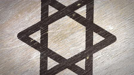 symbolismus : Star Of David  Magen - Jewish Symbol On The Wodden Texture. Ideal for Your Judaism  Religion Related Projects. High Quality Seamless Animation. 4K, 60fps Dostupné videozáznamy