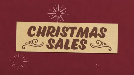 Christmas Sale Greeting Card. Ideal For Your Chrismas Discounts  Sales Related Project. Seamless High Quality 4K Animation Filmati Stock