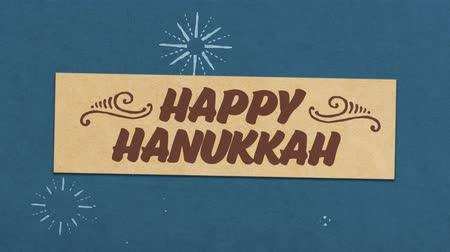 Happy Hanukkah Greeting Card. Ideal For Your Hanukka Celebration Related Project. Seamless High Quality 4K Animation Stock Footage