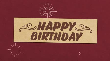 Happy Birthday Greeting Card. Ideal for Your Birthday Related Project. Seamless High Quality 4K Animation