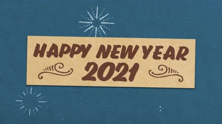 Happy New Year 2021 Greeting Card. Ideal for Your New Year  New Years Eve Related Project. Seamless High Quality 4K Animation Stock Footage