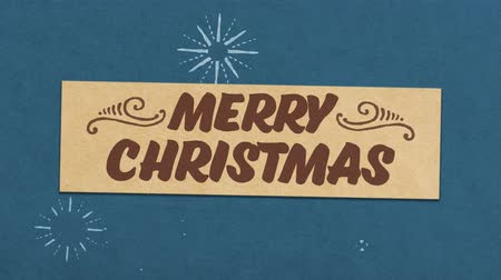 Merry Christmas Greeting Card. Ideal for Your Christmas Related Project. Seamless High Quality 4K Animation Filmati Stock
