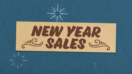 New Year Sale Greeting Card. Ideal for Your New Year Discounts  Sales Related Project. Seamless High Quality 4K Animation