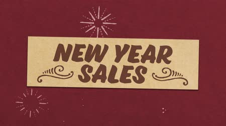 origineel : New Year Sale Greeting Card. Ideal for Your New Year Discounts  Sales Related Project. Seamless High Quality 4K Animation