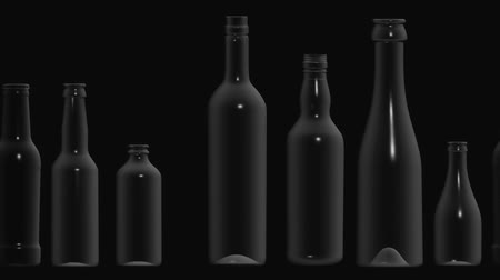 A Motion Graphic Of Moving Bottles