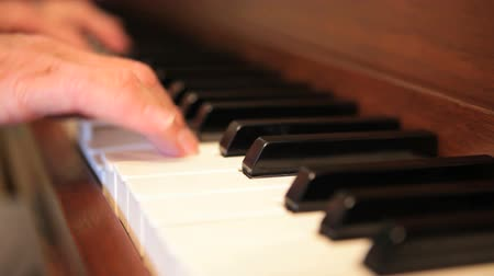 piyano : Womans hands playing piano