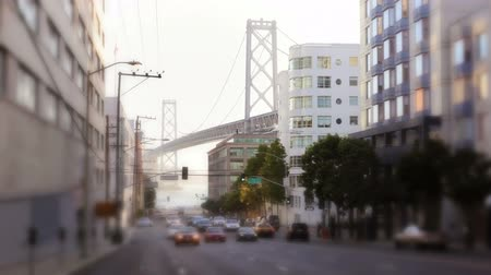 pomost : Morning street scene with the Oakland Bay Bridge in background