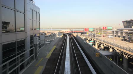 binari treno : Treno alla JFK, New York