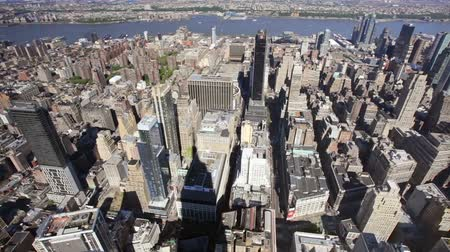 empire state building : Regardant vers le bas sur Manhattan depuis l'Empire State Building