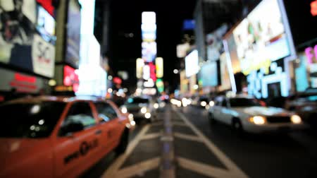рекламный : Blurred view of Times Square