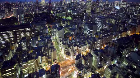 város : Tokyo Tower and skyline at night, time lapse, Japan