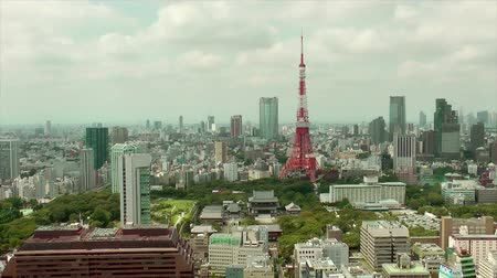 tokio : Tokyo Tower and downtown skyline, time lapse Wideo