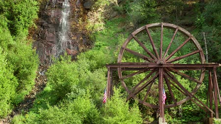 młyn : The Charlie Taylor Waterwheel in Idaho Springs, Colorado Wideo