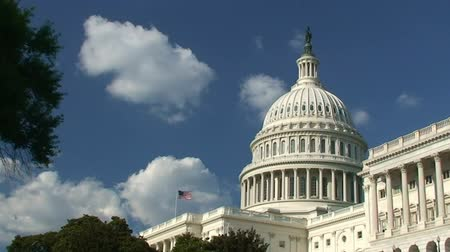 congres : VS Capitool, Washington D.C. Stockvideo