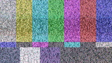 prova : Static on a color bar test pattern on TV