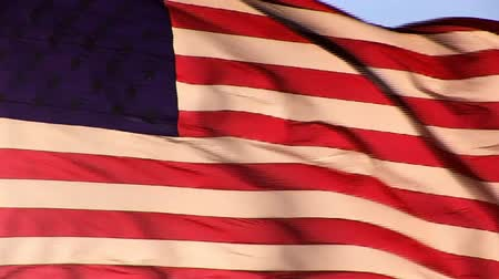 blue flag : American Flag Stock Footage