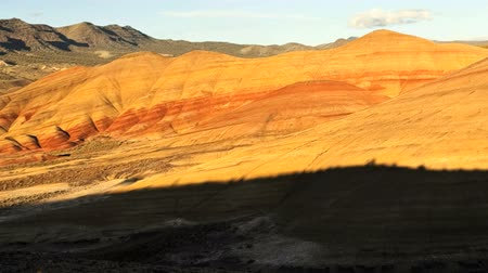 Sunset at Painted Hills, Oregon, jib shot, time lapse Wideo