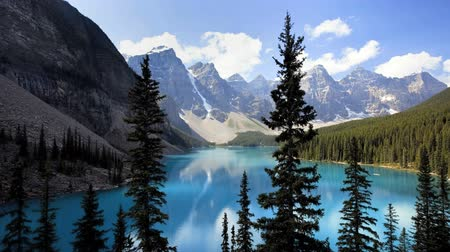 táj : Banff National Park, Canada, Moraine Lake, time lapse
