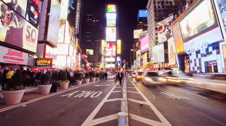 New Yorker Time Square in der Nacht, Zeitraffer