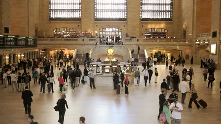 Pendolari in Grand Central Station di New York City, lasso di tempo Filmati Stock