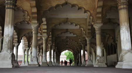 Agra Fort, the hall of public audience, Agra, Uttar Pradesh, India Wideo