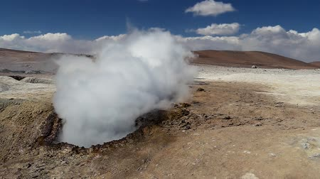 salt lagoon : Scene from Boliva South America Slow Motion of the hot springs
