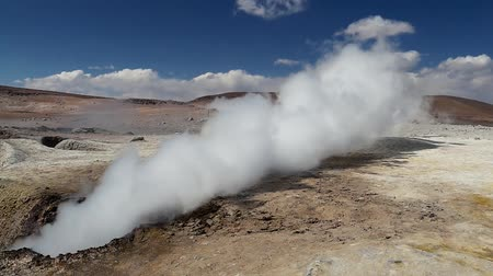 vulkán : Scene from Boliva South America Slow Motion of the hot springs