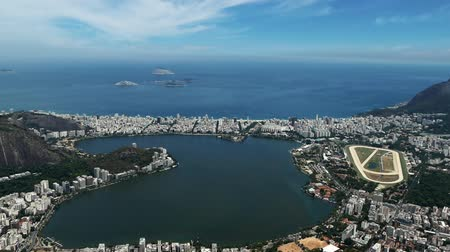 sugar loaf : Scene from Brazil South America Slow Motion of Rio skyline