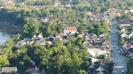 khan : Scene from Luang Prabang Laos South East Cityscape Skyline