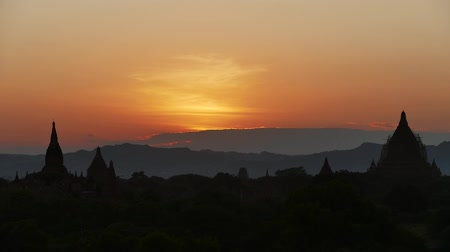 monk : Scene from Bagan Myanmar South East Asia Sunrise Sunset clips Stock Footage
